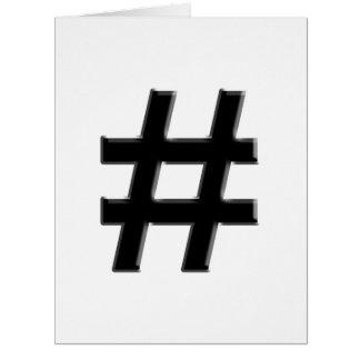 #HASHTAG - Hash Tag Symbol Greeting Cards
