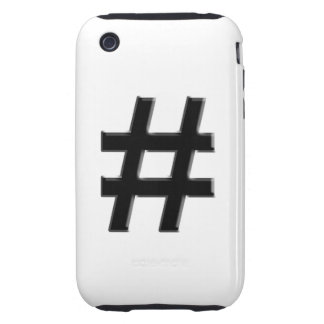 #HASHTAG - Hash Tag Symbol Tough iPhone 3 Covers