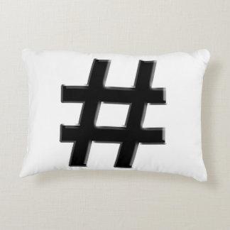 #HASHTAG - Hash Tag Symbol Decorative Pillow