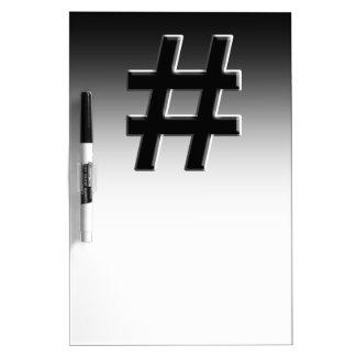 #HASHTAG - Hash Tag Symbol Dry Erase Board