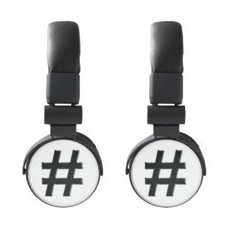 #HASHTAG - Hash Tag Symbol Headphones