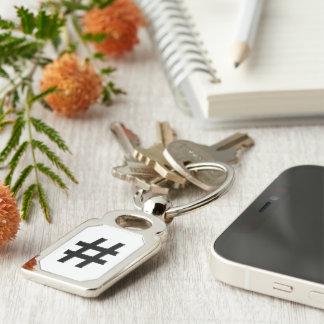 #HASHTAG - Hash Tag Symbol Keychain