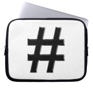 #HASHTAG - Hash Tag Symbol Laptop Sleeve
