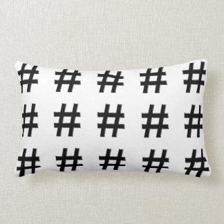#HASHTAG - Hash Tag Symbol Lumbar Pillow
