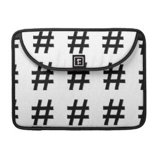 #HASHTAG - Hash Tag Symbol MacBook Pro Sleeves