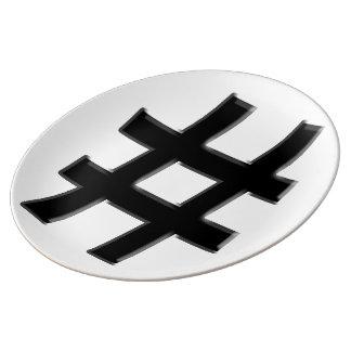 #HASHTAG - Hash Tag Symbol Porcelain Plates