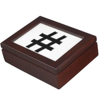 #HASHTAG - Hash Tag Symbol Memory Box