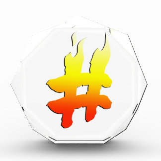 #HASHTAG - Hash Tag Symbol on Fire Awards