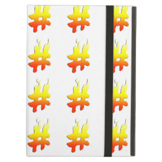 #HASHTAG - Hash Tag Symbol on Fire iPad Air Covers