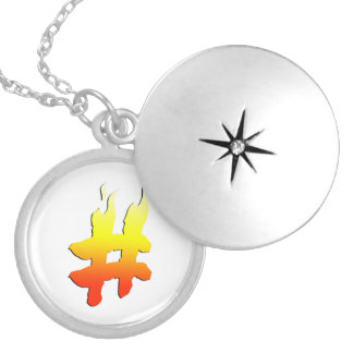 #HASHTAG - Hash Tag Symbol on Fire Jewelry