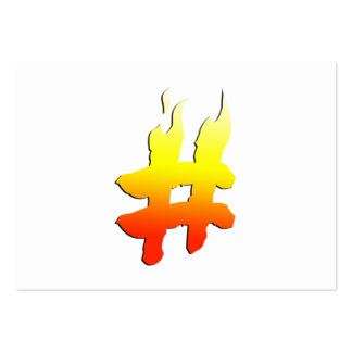 #HASHTAG - Hash Tag Symbol on Fire Large Business Card