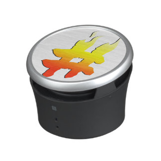 #HASHTAG - Hash Tag Symbol on Fire Bluetooth Speaker
