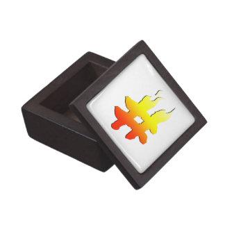#HASHTAG - Hash Tag Symbol on Fire Premium Jewelry Box