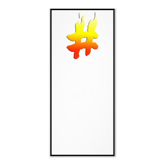 HASHTAG - Hash Tag Symbol on Fire Personalized Rack Card