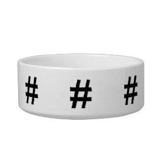 #HASHTAG - Hash Tag Symbol Pet Water Bowl