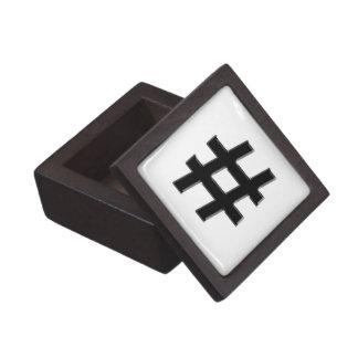 #HASHTAG - Hash Tag Symbol Premium Jewelry Box