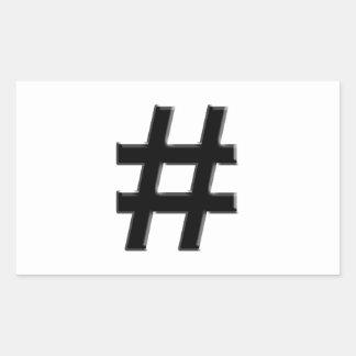 HASHTAG - Hash Tag Symbol Sticker