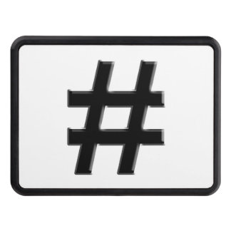 #HASHTAG - Hash Tag Symbol Tow Hitch Covers
