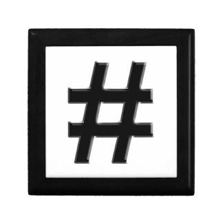 #HASHTAG - Hash Tag Symbol Trinket Box