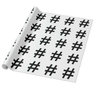 #HASHTAG - Hash Tag Symbol Wrapping Paper