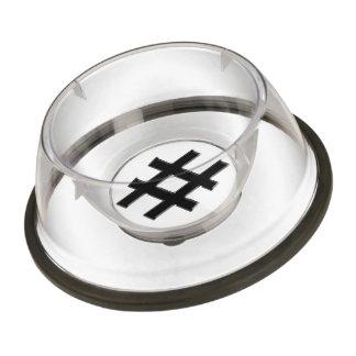 #HASHTAG - Hash Tag Symbol Pet Bowl
