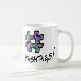 hashtag, hashtag classic white coffee mug