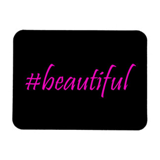 Hashtag hermoso imán de vinilo