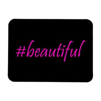 Hashtag hermoso iman de vinilo