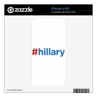 Hashtag Hillary iPhone 4S Skin