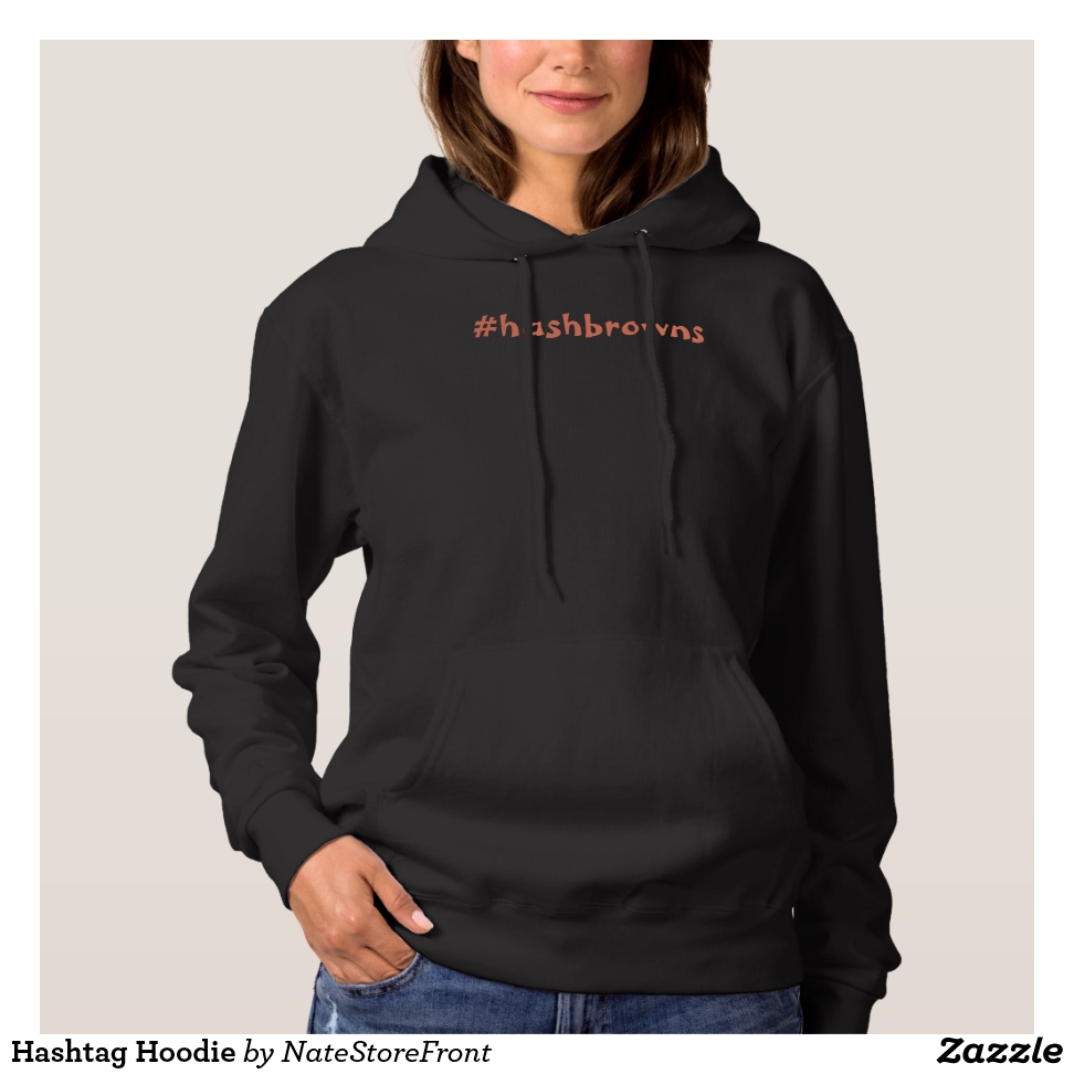 Hashtag Hoodie - Creative Long-Sleeve Fashion Shirt Designs