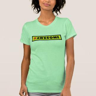 Hashtag impresionante # camiseta