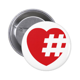 hashtag in a heart button