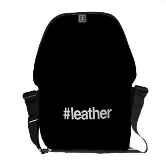 HASHTAG LEATHER COURIER BAGS