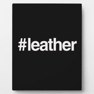 HASHTAG LEATHER DISPLAY PLAQUE