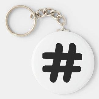Hashtag Llavero Redondo Tipo Pin