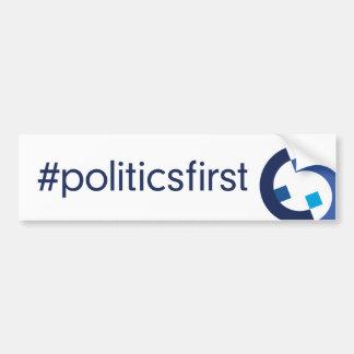 Hashtag + Logo White Bumper Sticker