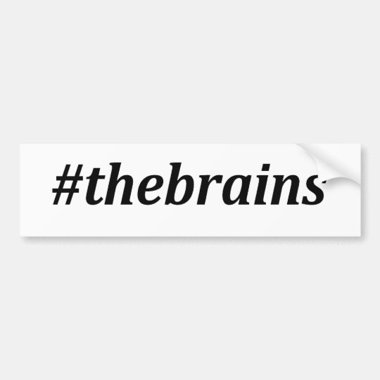 Hashtag - los cerebros pegatina para auto