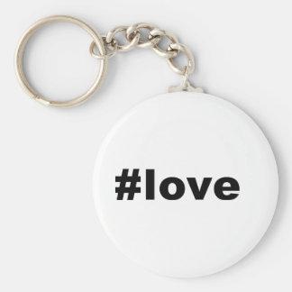 Hashtag Love Key Chain