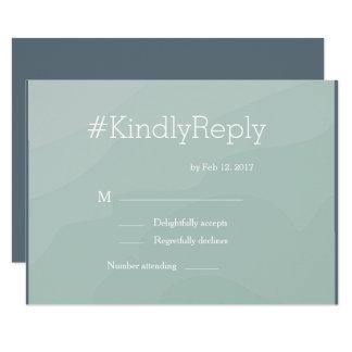Hashtag modern turquoise watercolor wedding rsvp invitation
