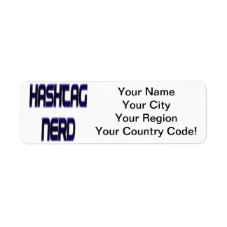 Hashtag Nerd Blue Label