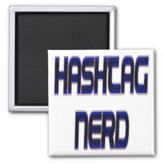 Hashtag Nerd Blue Magnet