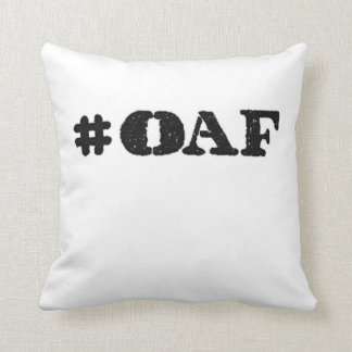 hashtag oaf military operator soldier throw pillow