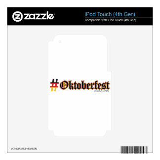 Hashtag Oktoberfest Skins For iPod Touch 4G