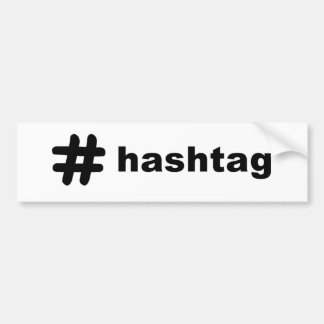 # hashtag pegatina para auto