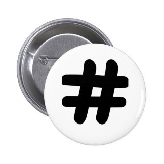 Hashtag Chapa Redonda 5 Cm
