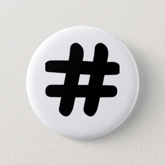 Hashtag Pinback Button
