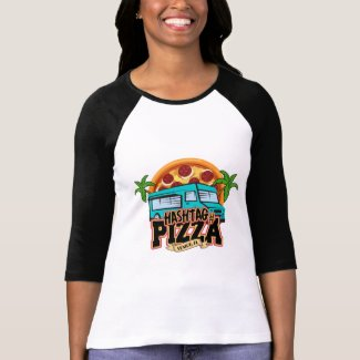 Hashtag Pizza 3/4 Sleeve Raglan T-Shirt