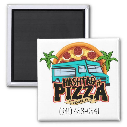Hashtag Pizza Ordering Magnet
