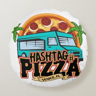 Hashtag Pizza Throw Pillow