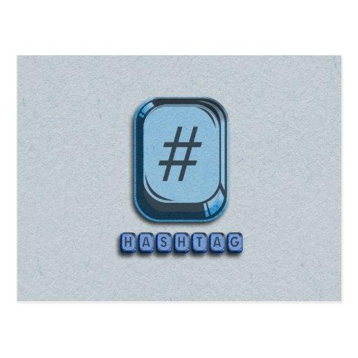 Hashtag Post Card